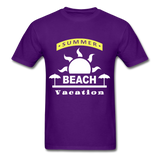 Summer Beach Vacation - Men's Tee - purple