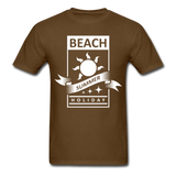 Beach Summer Holiday Design #2 - Men's Tee - brown