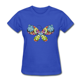 Patterned Butterfly - Women's - royal blue
