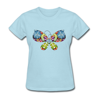 Patterned Butterfly - Women's - powder blue