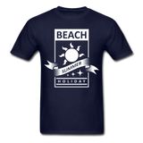 Beach Summer Holiday Design #2 - Men's Tee - navy