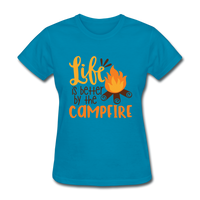 Life is Better Campfire - Women's - turquoise
