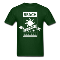 Beach Summer Holiday Design #2 - Men's Tee - forest green