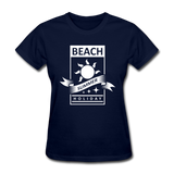 Beach Summer Holiday Design #2 - Women's Tee - navy