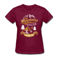 Mountains Calling Yellow - Women's - burgundy