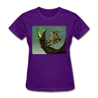 Elf on a Dragon - Women's - purple