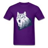 Wolf in the Forest - Men's - purple
