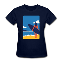 Lady with Surf Board - Women's - navy