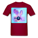 Gemini Lady on Blue - Unisex - dark red
