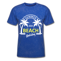 Summer Beach Holiday Design #3 - Men's Tee - mineral royal