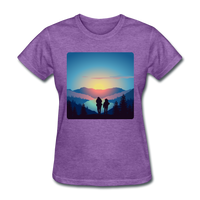 Backpackers at Sunset - Women's - purple heather
