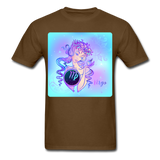 Virgo Lady on Blue - Unisex2 - brown