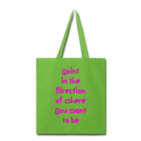 Point in the Direction - Tote2 - lime green