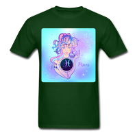 Pisces Lady on Blue - Unisex - forest green
