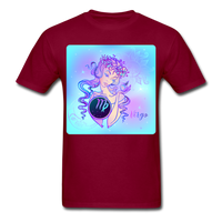 Virgo Lady on Blue - Unisex2 - burgundy