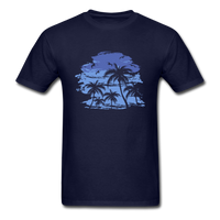 Palm Trees with Sky - Men's Tee - navy