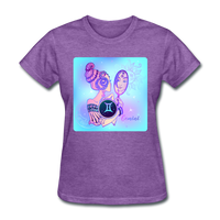 Gemini Lady on Blue - Women's - purple heather