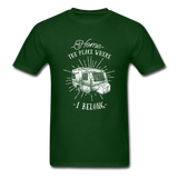 Home the Place Where I belong - Men's - forest green