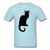 Black Cat with Yellow Eyes - Men's - powder blue