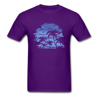 Palm Trees with Sky - Men's Tee - purple