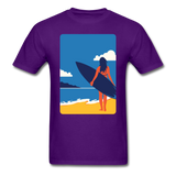 Lady with Surf Board - Unisex - purple