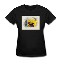 Yellow Pansy Watercolor - Women's - black
