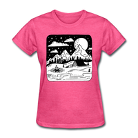 Peaceful Campsite - Women's - heather pink