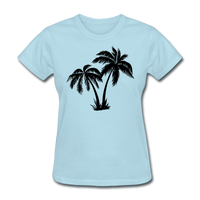 Palm Trees Silhouette - Women's Tee - powder blue