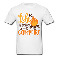 Life is Better Campfire - Men's - white
