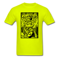 Robot Attack - Men's Tee - safety green