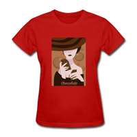 A Chocolate Eating Classy Lady - Women's - red