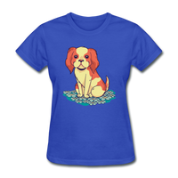 Happy Puppy - Women's - royal blue