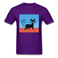Black Cat on a Roof - Mens - purple