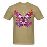 Abstract Butterfly - khaki