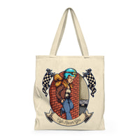 Cafe Racer Girl - Large Tote