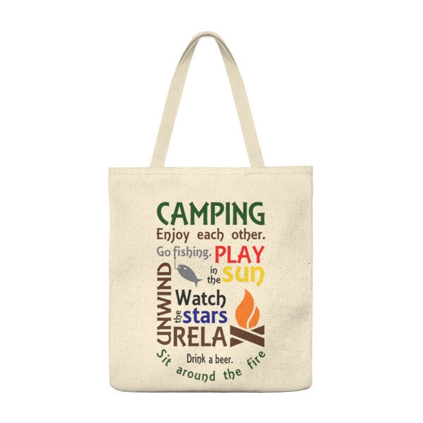 Camping Enjoy Each Other - Large Tote