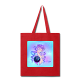 Virgo Lady on Blue - Tote - red
