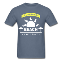 Summer Beach Holiday Design #4 - Men's Tee - denim