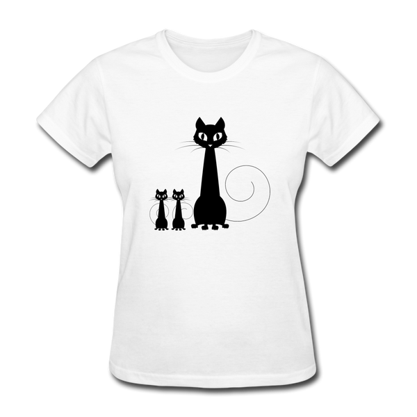 Black Cat Family - Women's - white