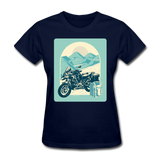 Motorcycle in the Mountains - Women's - navy