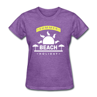 Summer Beach Holiday Design #4 - Women's Tee - purple heather