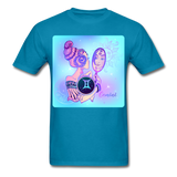 Gemini Lady on Blue - Unisex - turquoise