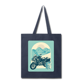 Motorcycle in the Mountains - Tote - navy