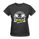 Summer Beach Holiday Design #3 Women's Tee - heather black
