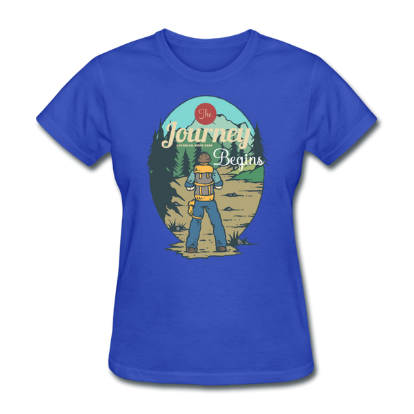 The Journey Begins2 - Women's - royal blue