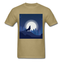 Wolf Howling at the Moon 2 - khaki