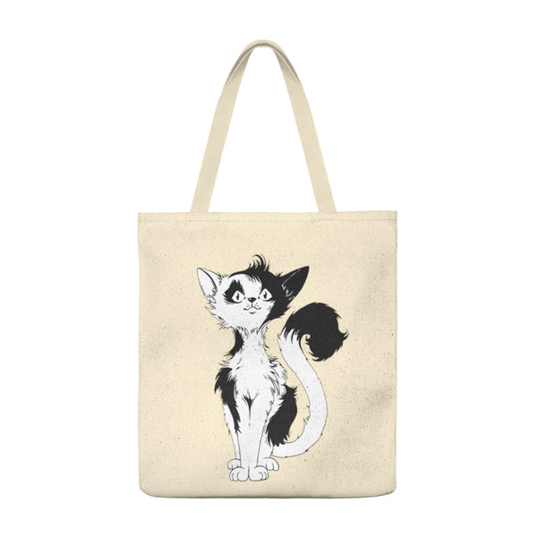 Black Tailed Cat - Large Tote