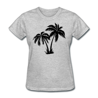 Palm Trees Silhouette - Women's Tee - heather gray