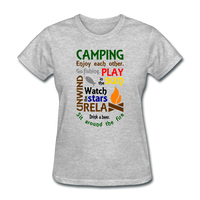 Camping Enjoy Each Other - Women's - heather gray