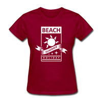 Beach Summer Holiday Design #2 - Women's Tee - dark red